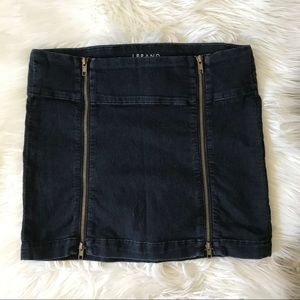 J Brand Dual Zipper Mini Skirt